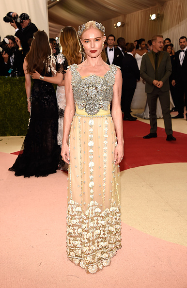 "NEW YORK, NY - MAY 02:  Kate Bosworth  attends ""Manus x Machina: Fashion In An Age Of Technology"" Costume Institute Gala at Metropolitan Museum of Art on May 2, 2016 in New York City.  (Photo by Kevin Mazur/WireImage)"