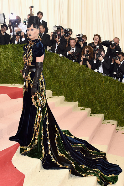 "NEW YORK, NY - MAY 02:  Katy Perry attends the ""Manus x Machina: Fashion In An Age Of Technology"" Costume Institute Gala at Metropolitan Museum of Art on May 2, 2016 in New York City.  (Photo by John Shearer/Getty Images)"