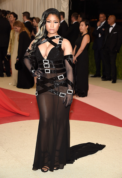 "NEW YORK, NY - MAY 02:  Nicki Minaj  attends ""Manus x Machina: Fashion In An Age Of Technology"" Costume Institute Gala at Metropolitan Museum of Art on May 2, 2016 in New York City.  (Photo by Kevin Mazur/WireImage)"