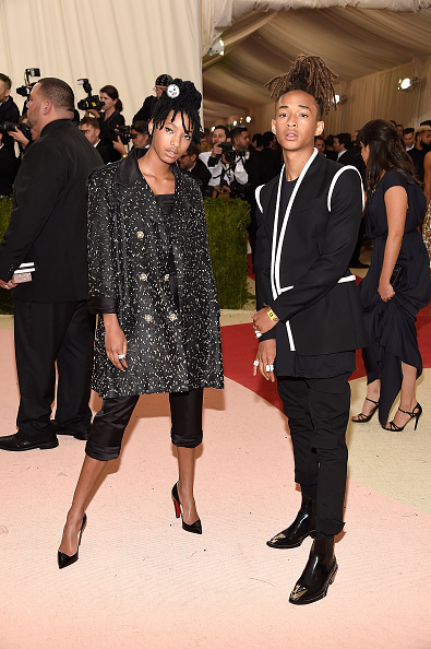 "NEW YORK, NY - MAY 02:  Willow Smith and Jaden Smith attend ""Manus x Machina: Fashion In An Age Of Technology"" Costume Institute Gala at Metropolitan Museum of Art on May 2, 2016 in New York City.  (Photo by Kevin Mazur/WireImage)"