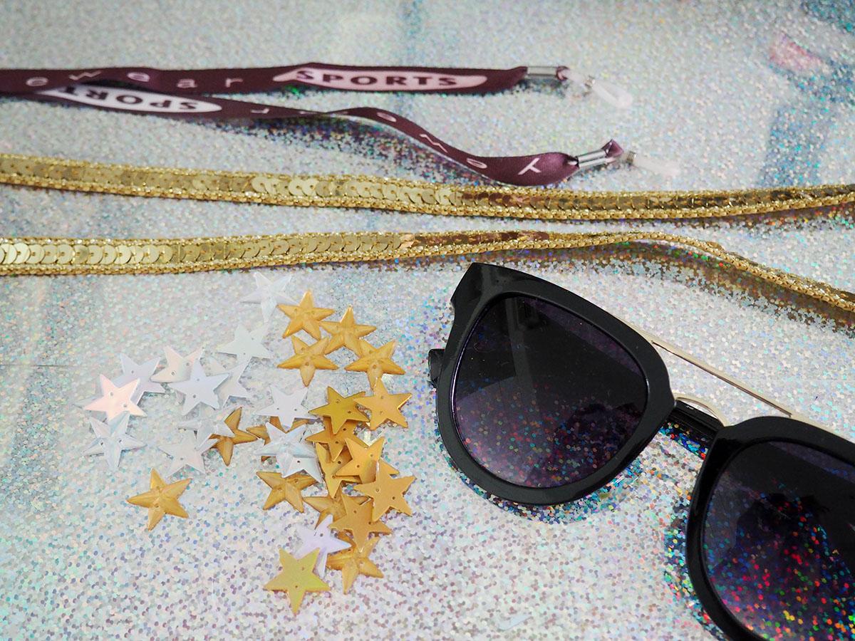 b796edce067cc Olha só como que com pouca coisa dá para conseguir um efeito bacana!  Comprei uma cordinha de óculos comum e cortei na ...