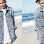 Desejo: jaqueta jeans longa
